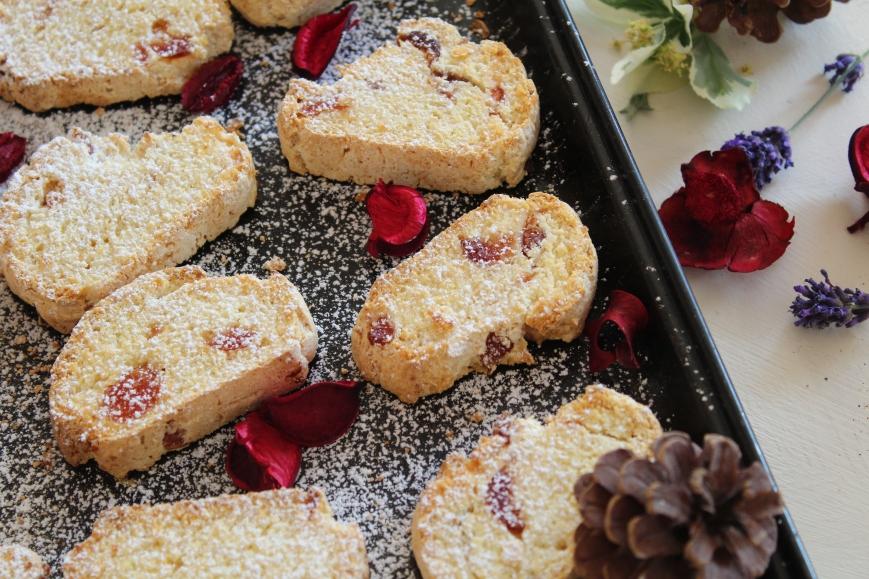 Cherry & Coconut Biscotti