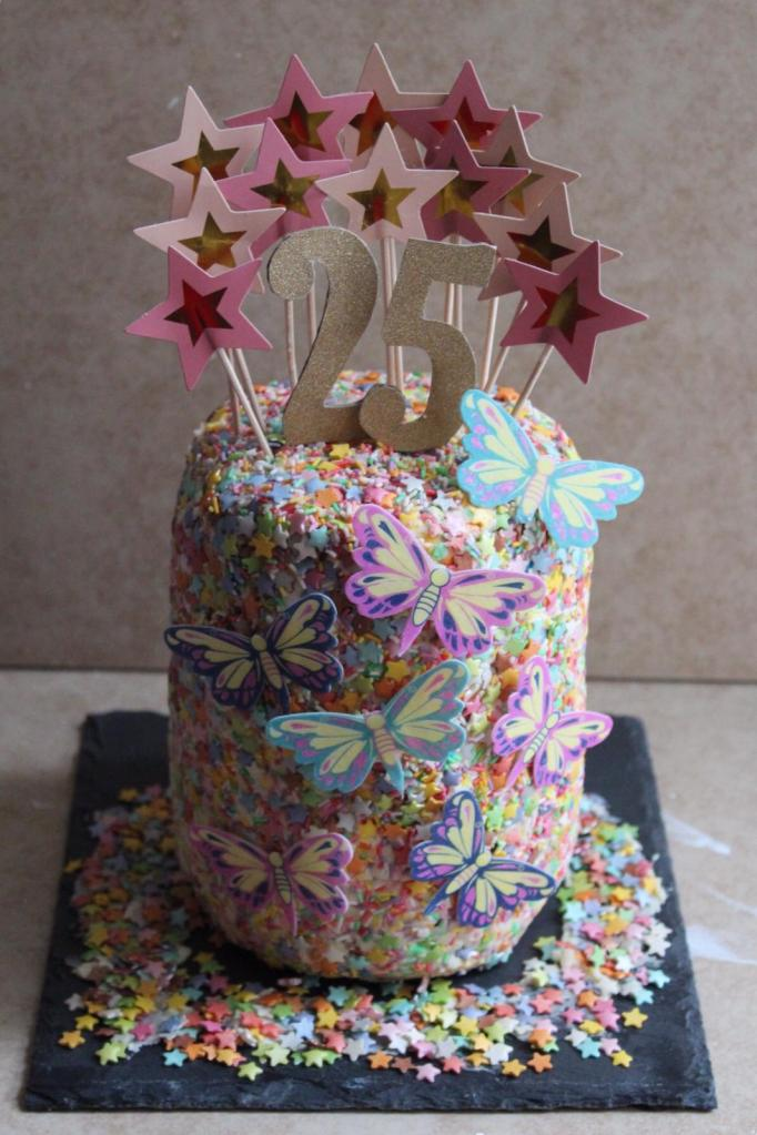 25th Birthday Cake. Chocolate Biscuit Cake.
