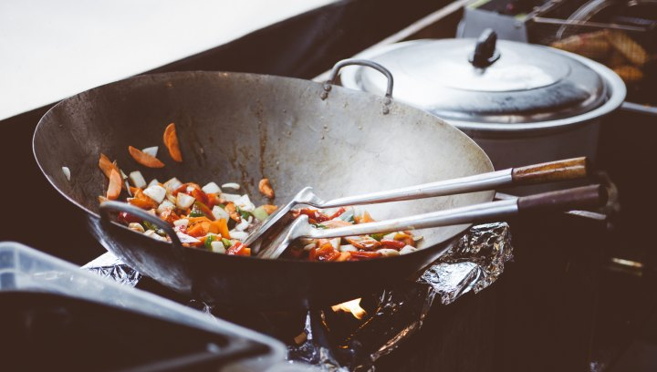 Stir Fry in Neon Camden Street